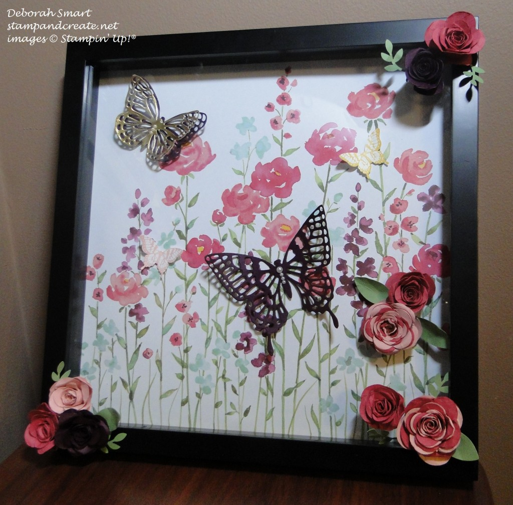 creation station painted blooms frame